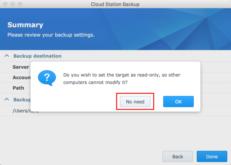 Deploying Synology Cloud Station Backup – Tech Notes